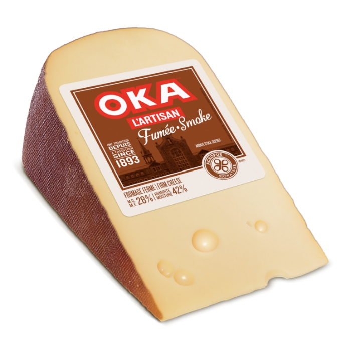 how to cut oka cheese